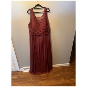 David's bridal size 26 bridesmaids dress